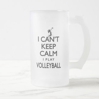 Can't Keep Calm Volleyball Frosted Glass Beer Mug