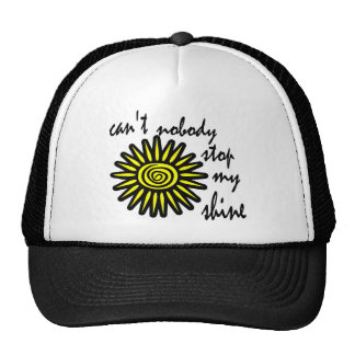 Can't Nobody Stop My Shine With Big Sun, Swirl Trucker Hat