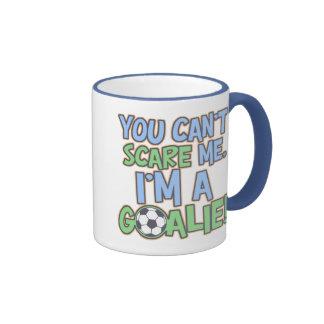 Can't Scare Me I'm A Goalie Ringer Coffee Mug