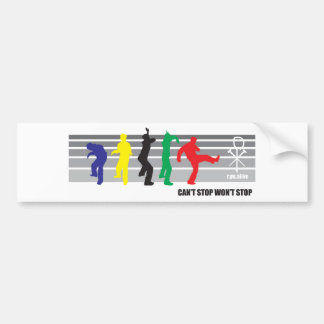 cant stop wont stop bumper sticker
