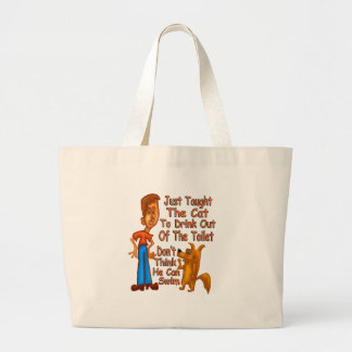 Can't Swim Large Tote Bag
