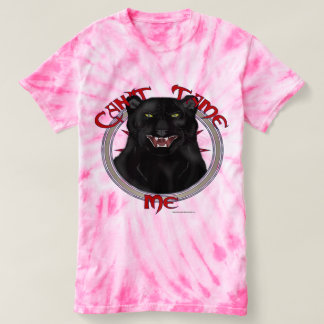 Can't Tame Leopard Ladies Tie-Dye T-shirt