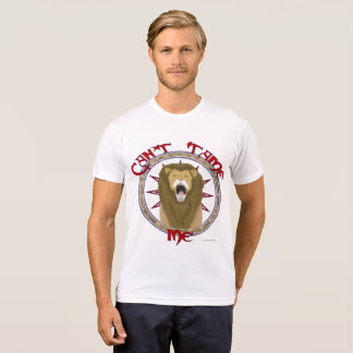 Can't Tame Lion Men's Poly-Cotton T-Shirt