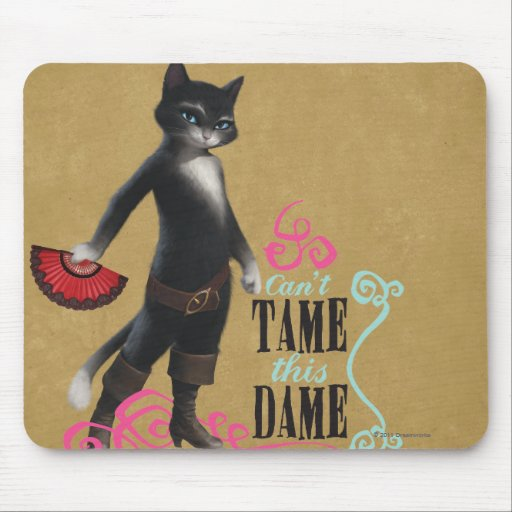 Can't Tame This Dame (color) Mousepads