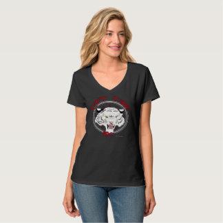 Can't Tame Tiger Ladies Nano V-Neck T-Shirt
