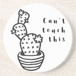 Cant Touch Cactus Coaster