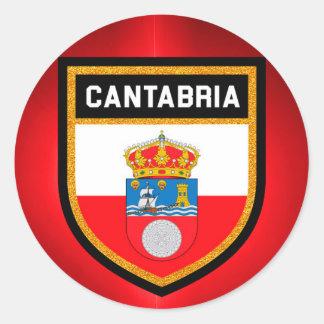 Cantabria Flag Classic Round Sticker