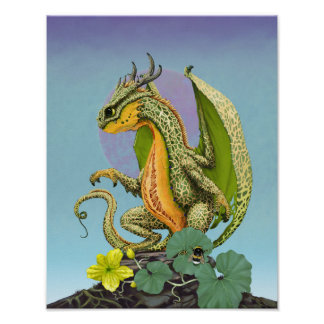 Cantaloupe Dragon 11x14 (4x6 and up) Poster