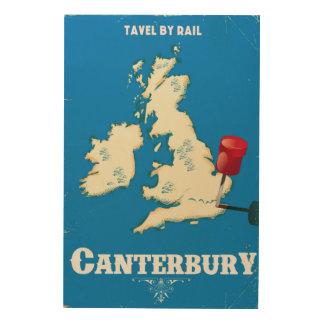Canterbury British Isles vintage rail poster