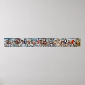 Canterbury Pilgrims Mural Poster