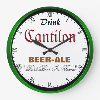 Cantlon Beer Large Clock
