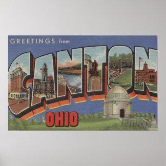 Canton, OhioLarge Letter ScenesCanton, OH Poster