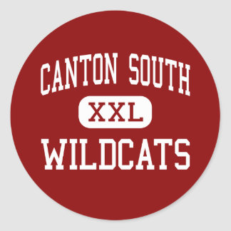Canton South - Wildcats - High - Canton Ohio Classic Round Sticker