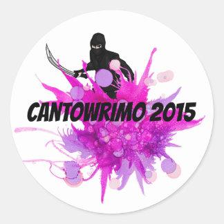 Cantowrimo Pink Ninja Stickers