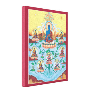 CANVAS - 8 Medicine Buddhas - Masters of Healing Stretched Canvas Prints