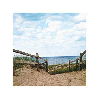 Canvas art path to the beach