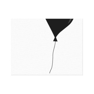 Canvas art print balloon black and white gallery wrapped canvas