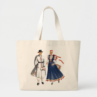 Canvas bag with tautu meita un dels