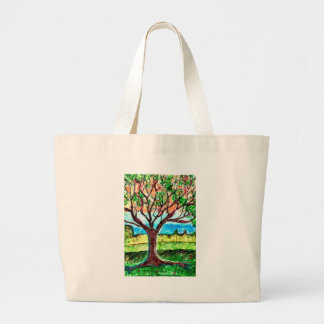 Canvas Bag with Tree Art