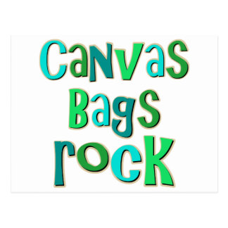 Canvas Bags Rock Postcard