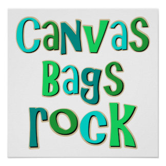 Canvas Bags Rock Posters