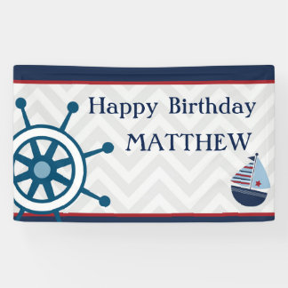 Canvas Birthday Party Sailor Banner