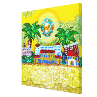 Canvas | Bondi Paradise (Yellow) Sequin Art Print