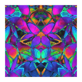 Canvas  Floral Fractal Art