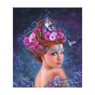Canvas Flower queen