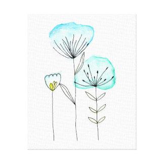 Canvas flowers