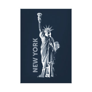 Canvas. Liberty, Statue of Liberty, New York, the Canvas Print