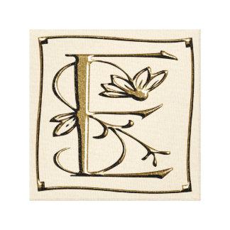 Canvas Monogram Letter E ~ Gold ~ L O V E
