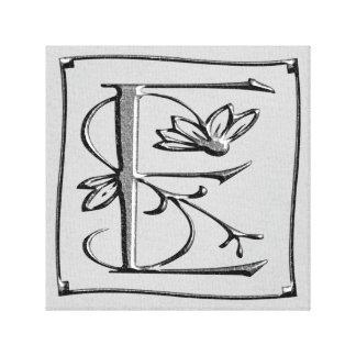 Canvas Monogram Letter E ~ Silver ~ L O V E