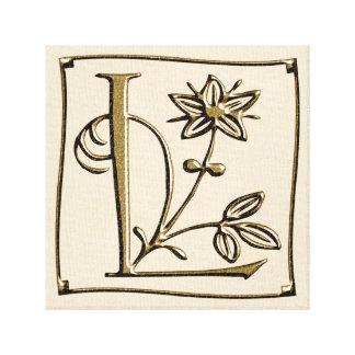 Canvas Monogram Letter L ~ Gold ~ L O V E