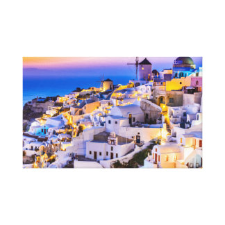 Canvas, Oia Santorini Canvas Print