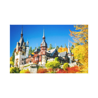 Canvas Peles castle Sinaia