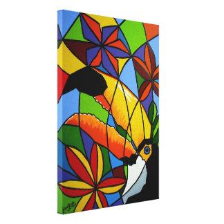 "Canvas Premium ""Toucan"" - Screen ""Toucan "" Stretched Canvas Prints"