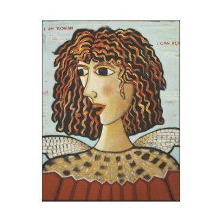 Canvas Print-I Am Woman, I Can Fly - Bird