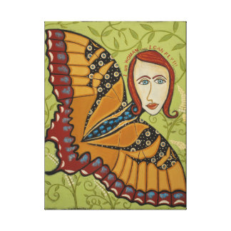 Canvas Print-I Am Woman, I Can Fly - Butterfly