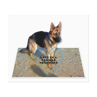 Canvas Print - Love is a German Shepherd