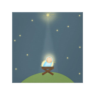 Canvas Print with baby Jesus nativity Illustration