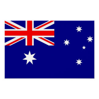 Canvas Print with Flag of Australia