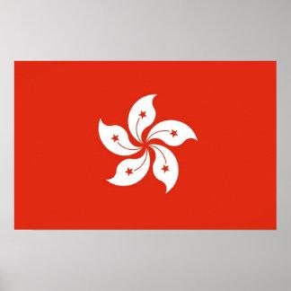 Canvas Print with Flag of Hong Kong, China