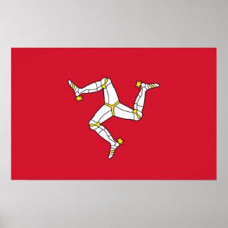 Canvas Print with Isle of Man Flag, United Kingdom