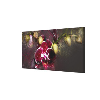 Canvas Purple Orchid