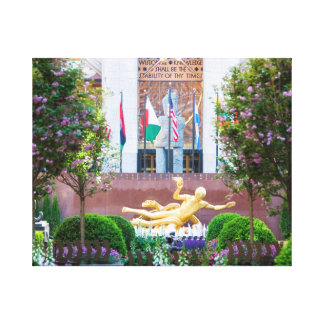 Canvas - Rockefeller Center in Spring, New York Stretched Canvas Prints