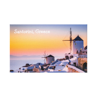 Canvas Santorini Greece