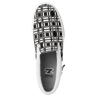 Canvas Shoe Changeable Slip On Black White Plaid