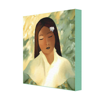 Canvas -The Flower Girl by Lin Masters Gallery Wrapped Canvas
