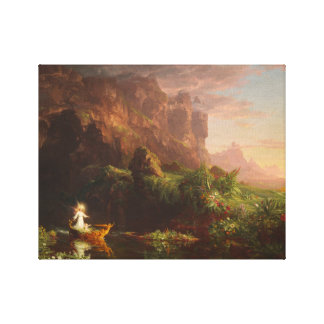 Canvas The Voyage of Life Childhood, Thomas Cole